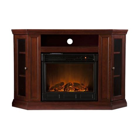 Cherry Electric Fireplace by Cheap Southern Enterprises Claremont Convertible Media