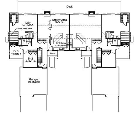 multi family home plans duplex 345 best images about duplex plan on pinterest craftsman