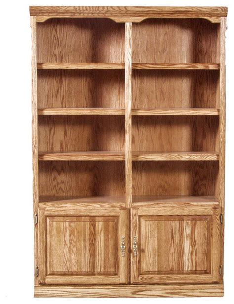 traditional bookcase with lower doors alder