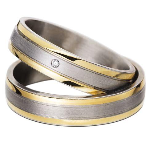 Eheringe Stahl by Gelbgold Edelstahl Mytrauring Hochzeitsringe 60020