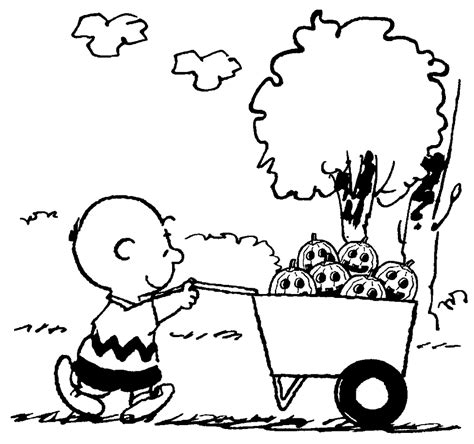 free coloring pages of charlie brown
