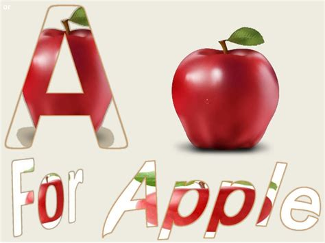 for a how to learn a for apple to z for zebra alphabets see say