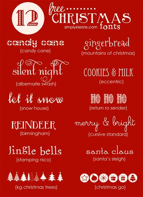 favorite free christmas fonts simplykierste com