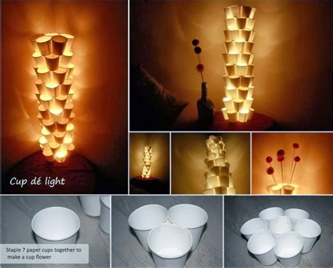 How To Make A Paper Light Bulb - awesome diy and craft 12 recycle paper cups tower ls