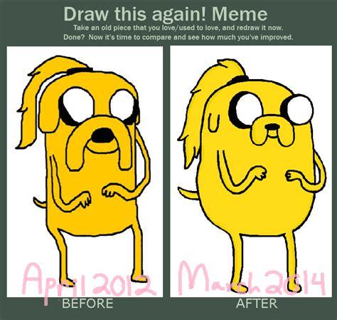Jake The Dog Meme - before and after meme ponytail jake by aquaseashells on