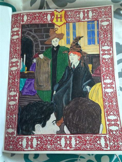 harry potter coloring book finished my harry potter coloring book harry potter amino