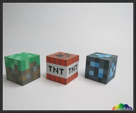 Minecraft Block Papercraft - papercraftsquare new paper craft minecraft
