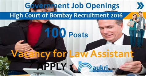 Bombay High Court Bench Nagpur High Court Of Bombay Jobs 2016 100 Law Clerk Posts