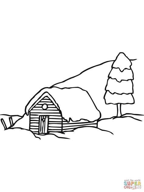 snow landscape coloring page snow landscape pages coloring pages