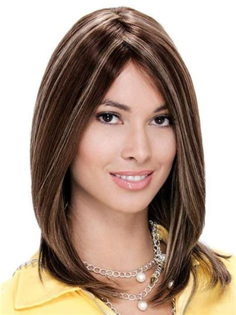 haircuts for oval face medium length shoulder length hairstyle for oval face 2014 www