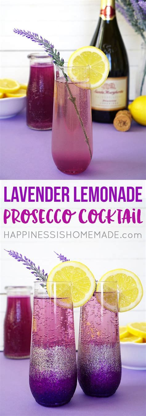 lavender cocktail lavender lemonade prosecco cocktails diy ombre glitter