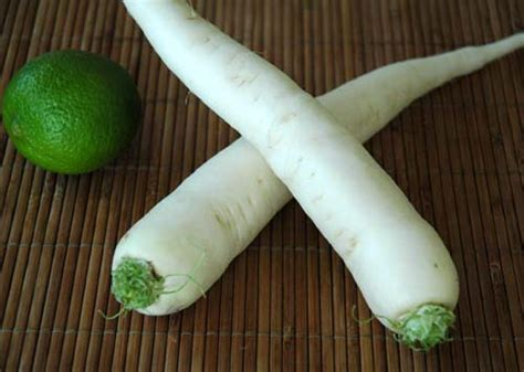 cuisiner des navets blancs le radis japonais da 239 kon le radis blanc ou radis chinois