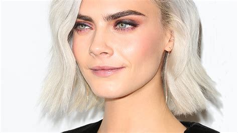 cara delevingne just got silver gold finger waves