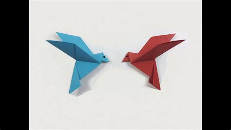 How To Make Paper Birds Origami - how to make a paper bird easy origami