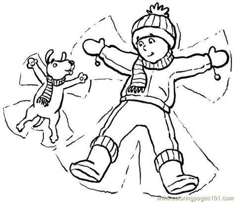 coloring pages of snow angels snowangels big coloring page free angel coloring pages