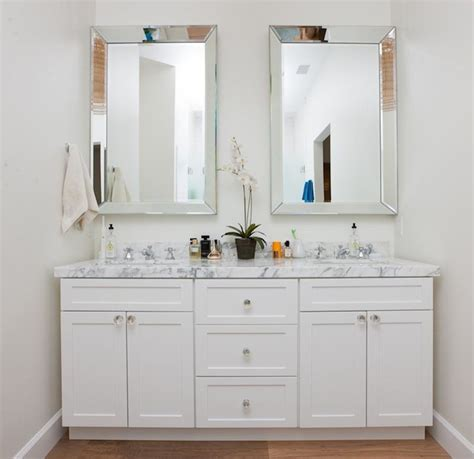 Beveled Bathroom Vanity Mirror Beveled Mirors Transitional Bathroom Christiano Homes