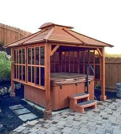 hot tub enclosure kits hot tub pavilion kit made of redwood