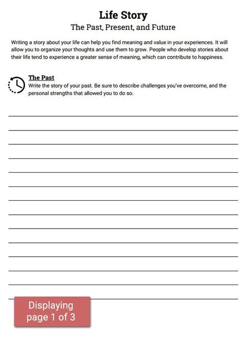 Therapy Worksheets by Story Past Present Future Worksheet Social
