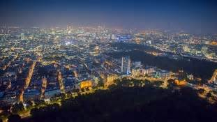 20 stunning aerial pictures of london lit up at night
