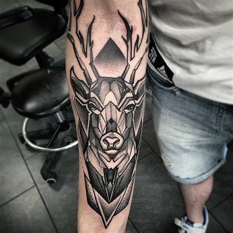 geometric deer tattoo design geyik d 246 vmeleri deer