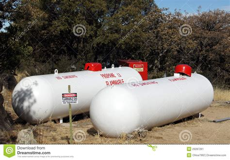 Is It Safe To Store Propane Tank In Garage by Propane Storage Tanks Stock Image Image 29287261
