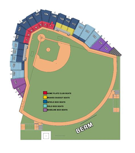 coolray field seating chart