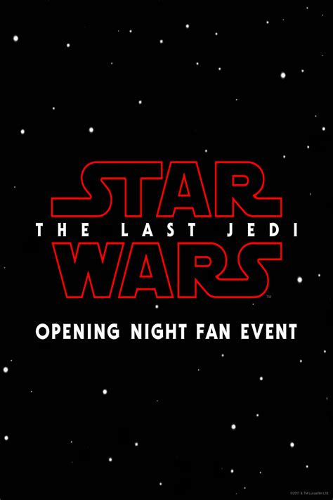 Opening Fan Event Wars The Last Jedi
