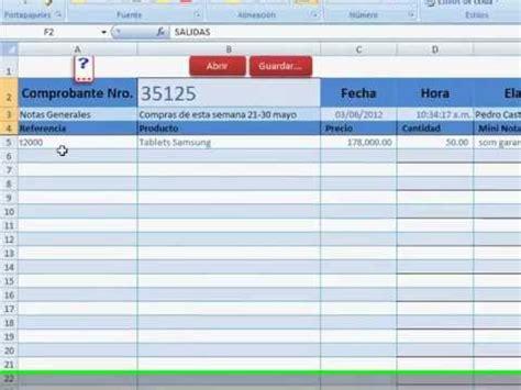 plantilla para inventarios personales control de inventarios con excel desde una plantilla