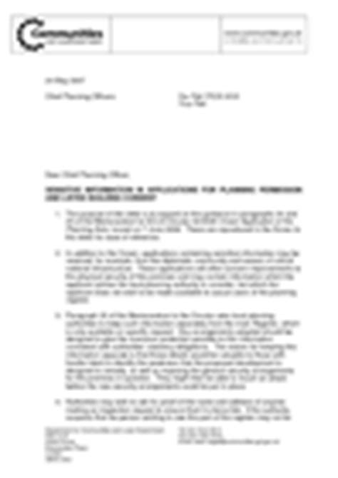 Support Letter For Planning Application Planning Guidance Letters To Chief Planning Officers Gov Uk