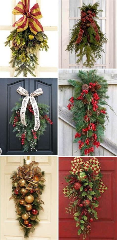 christmas swags   door christmas ideas pinterest
