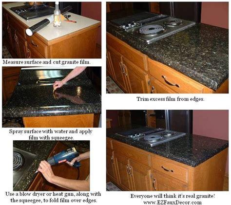 Ez Faux Decor by Diy Faux Granite Countertops Kitchens