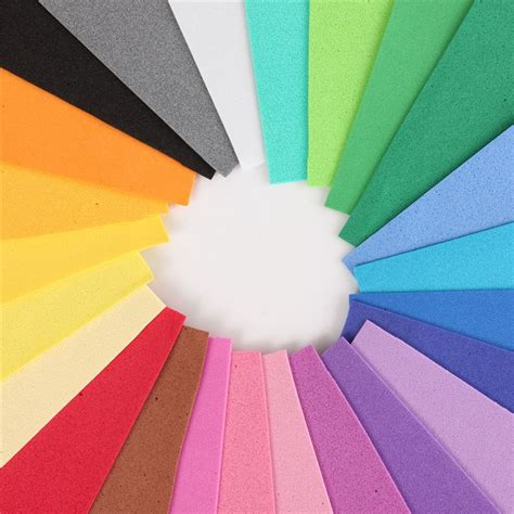 Foam Craft Paper - 50 50cm big size thick multicolor sponge foam paper diy