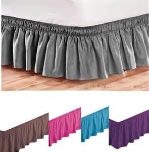 elastic bed skirts elastic bed skirt dust ruffle easy fit black king