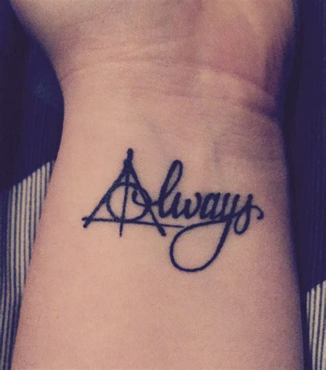 always wrist tattoo harry potter deathly hallows always tattoos