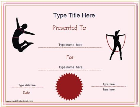 gymnastics certificate template 17 best images about information technology certificate