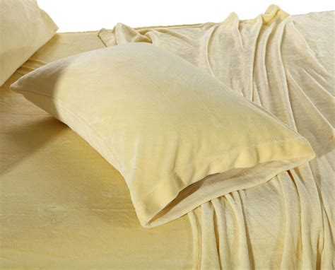 velvet soft cozy sheet sets full size cozy fleece soft plush yellow sheet sets ebay