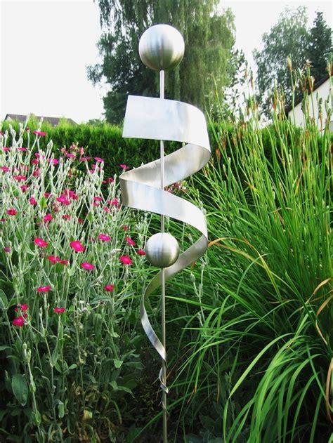 Gartendeko Edelstahl by Skulpturen Stele Edelstahl Skulptur Gartendeko Rostfrei