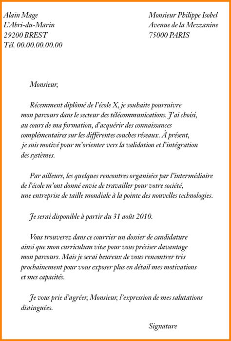 Exemple Lettre De Motivation Ecole De Commerce Master 8 Exemple De Lettre De Motivation Pour Une 233 Cole Format Lettre