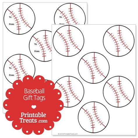 printable baseball tags free printable baseball gift tags from printabletreats com