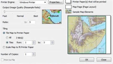 print layout view in arcgis printing where is tile map to printer paper option in