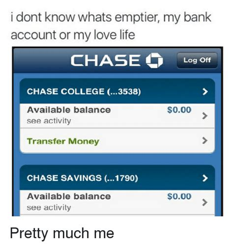 me bank account i dont whats emptier my bank account or my