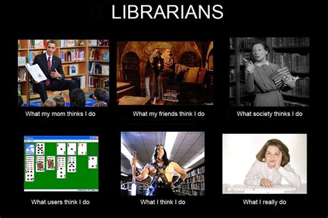 librarian meme librariotypes presents how view my profession