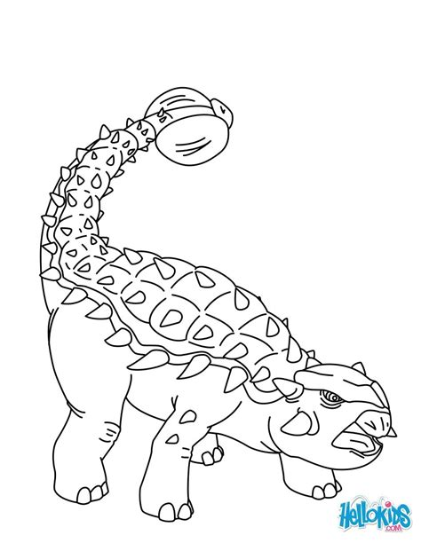 Ankylosaurus Coloring Pages Hellokids Com Ankylosaurus Coloring Page