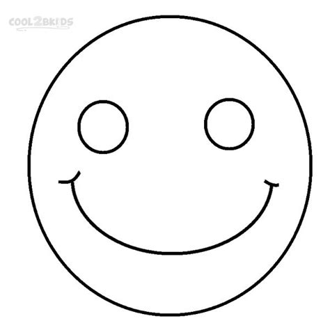 printable smiley face coloring pages for kids cool2bkids