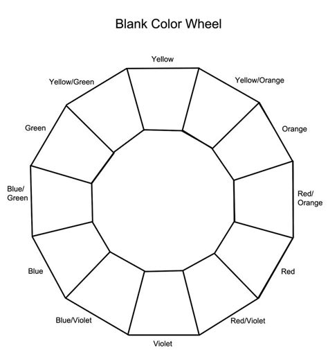 color blanks blank color wheel homeschool free pictures