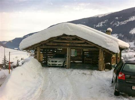 Winter Carport Romantik Ferienwohnung Surselva