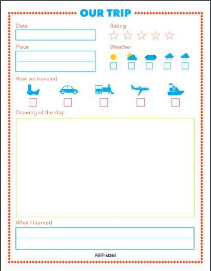 free printable summer travel journal for kids travel