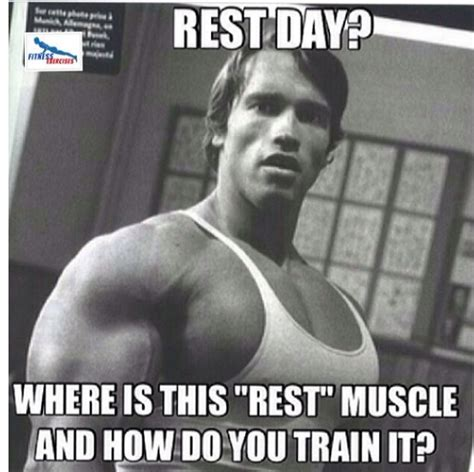 Rest Day Meme - actually rest days are important for recovery but that