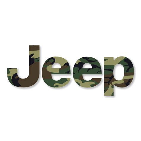 Camo Jeep Emblems All Things Jeep Jeep Logo Decal In Camouflage 1 Decal