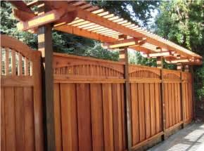 Wooden Trellis Fence Designs Wood Fence San Jose Fencing Company Fence Company San